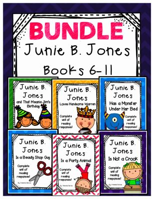 Junie B. Jones The BUNDLE: Complete Unit of Reading Responses for Books 6-11 from Amanda Garcia on TeachersNotebook.com -  (110 pages)  - This 6-book BUNDLE gives your readers a CCSS-aligned reading response for EVERY chapter of Junie B. Books 6-11!