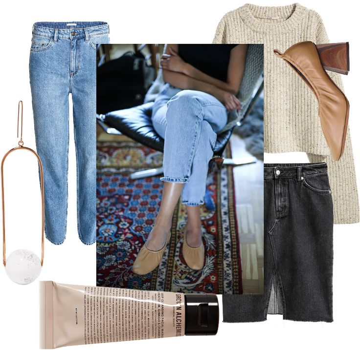Johanna P. Blog - Fashion Mood Board - Denim, Céline shoes.