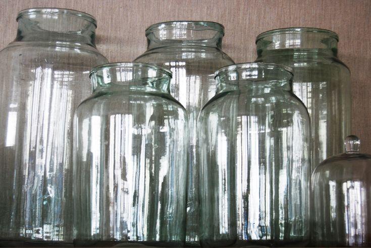 Glass Jars Various Sizes elizabethleeinteriors.co.uk