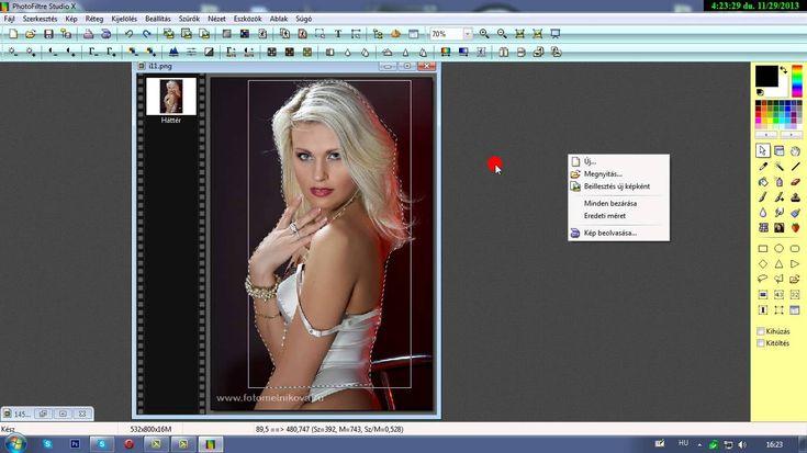 4.Png kép készítése öt féle módszerrel. Photo filtre