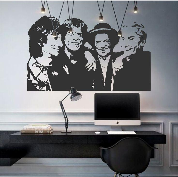 Vinilo decorativo de la célebre banda rockera The Rolling Stones.