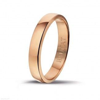 Roodgouden Diamanten Ringen - 18 karaat roodgouden herenring