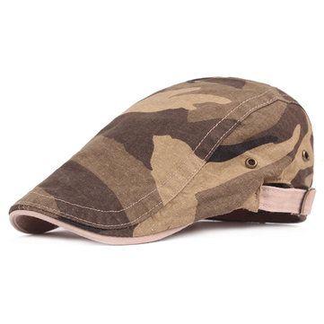 3ffdd152fa2 Men Camouflage Cotton military Beret Cap Travel Adjustable Visors  Breathable Sun Hat