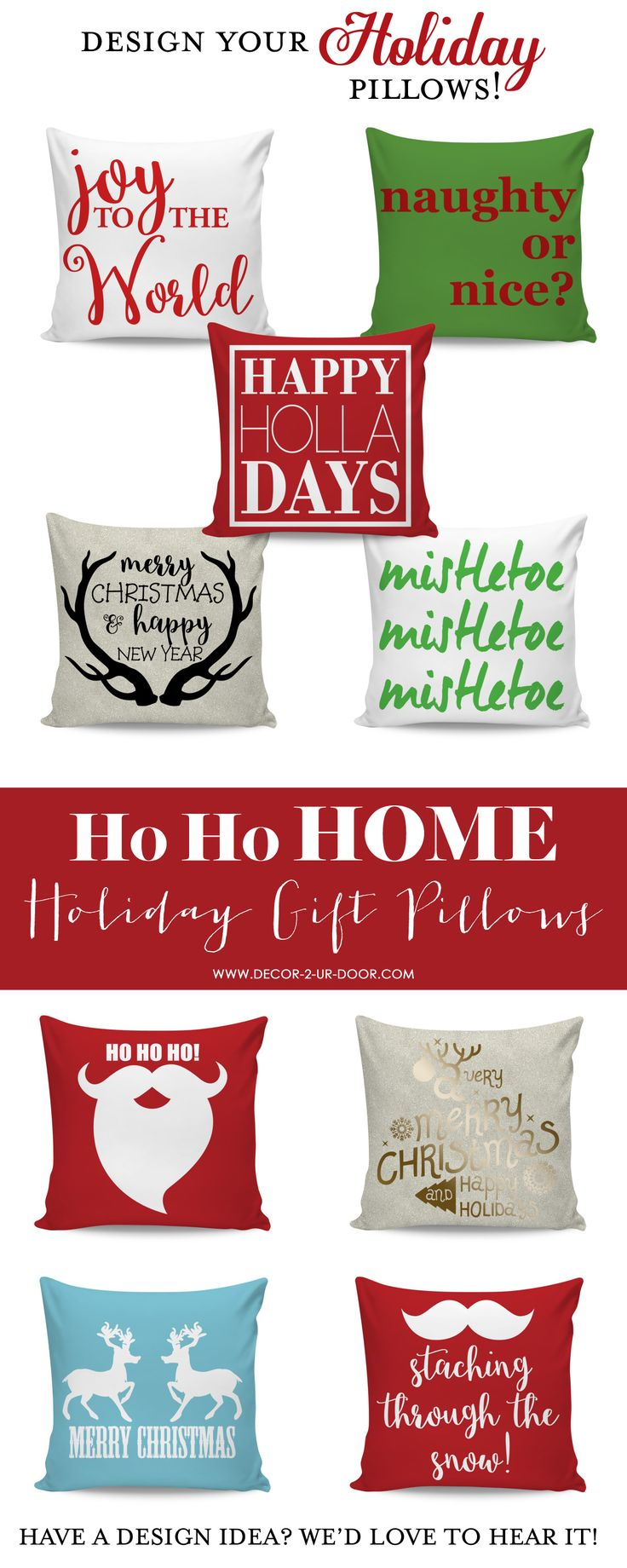 Liven Up Your Sofa Or Add Some Christmas Cheer To Your Bed. Choose From  Many Different Options Or Create Your Own Christmas Pillow. Part 67