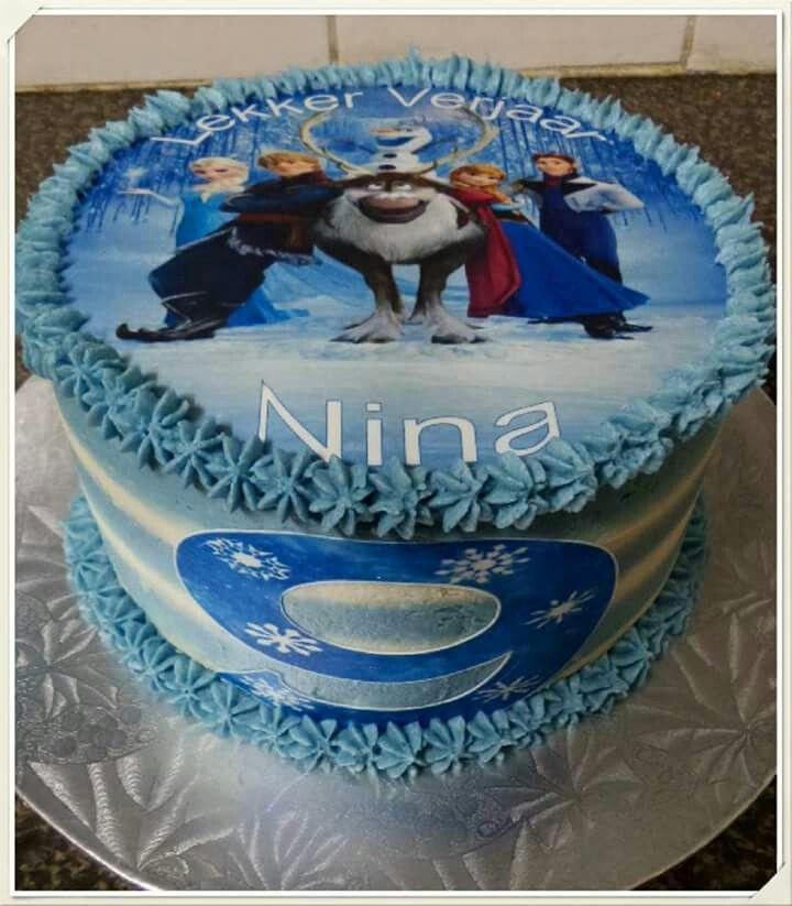 Frozen cake Blue.  Made by The Dotted Apron Bloemfontein. https://m.facebook.com/profile.php?id=703914623013978&refsrc=https%3A%2F%2Fwww.facebook.com%2Fpages%2FThe-Dotted-Apron%2F703914623013978
