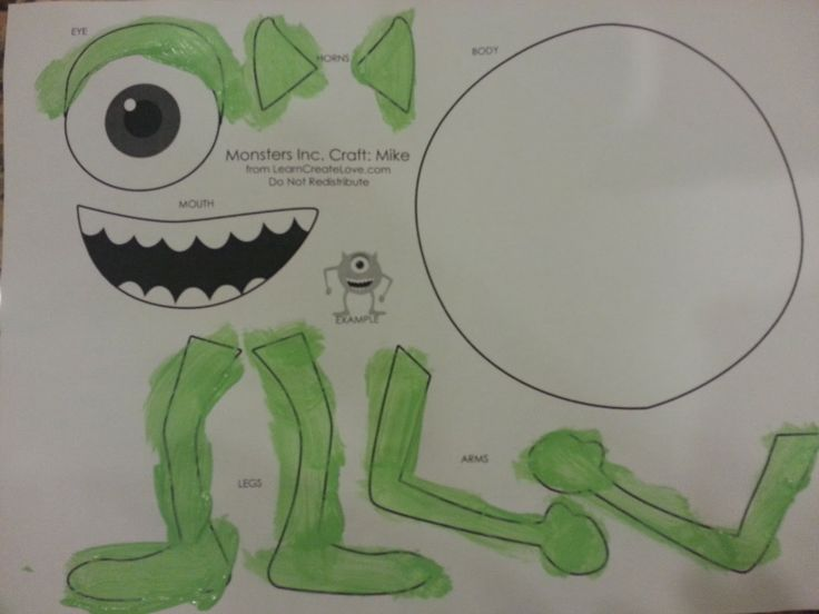 Monsters University: Mike Wazowski & Sully Paper Plate Craft-- Getting our Family craft on tonight before movie night! t!! _ BCN will love  it!