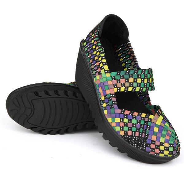 Elastic Belt Knitted Swing Shoes Female Sport Sandals Shoes