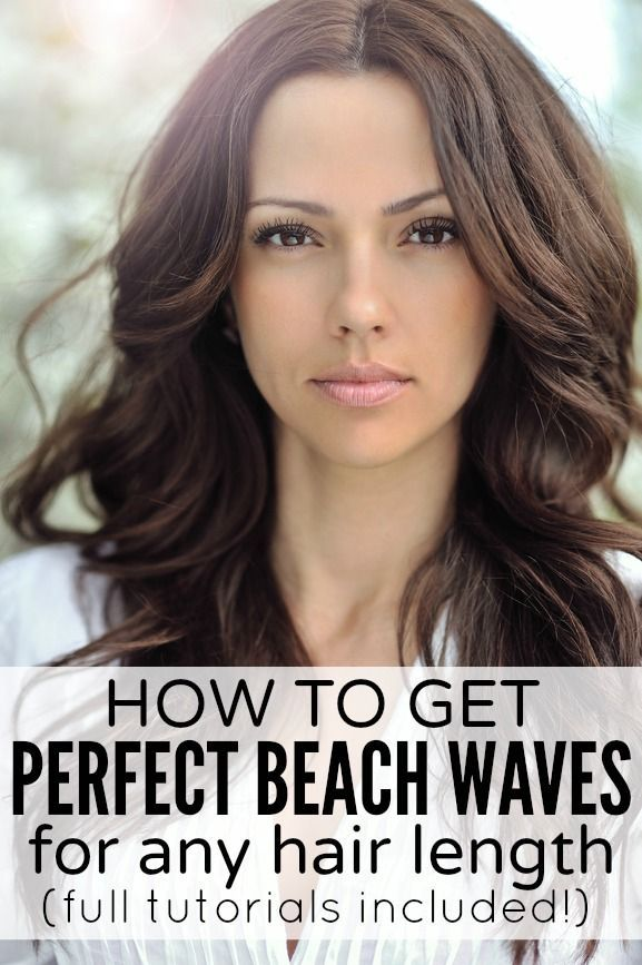 Whether you have long hair, short hair, or medium-length hair, this collection of tutorials will teach you how to get perfect beach waves! #beachwaves #hairtutorials #wavyhair #longhair #shorthair