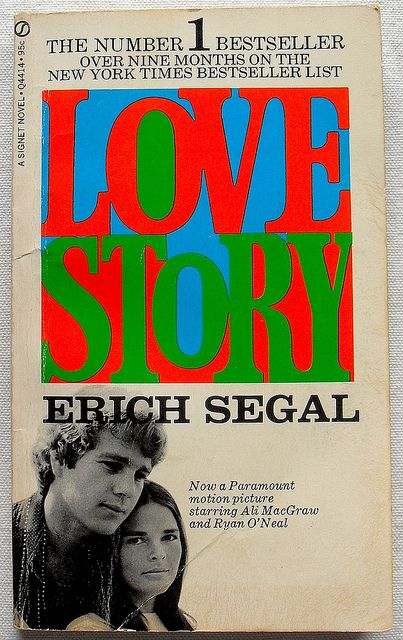 LOVE STORY Eric Segal 1970 Paperback Novel Movie Book Ali McGraw Ryan ONeal Cinema  by Christian Montone, via Flickr