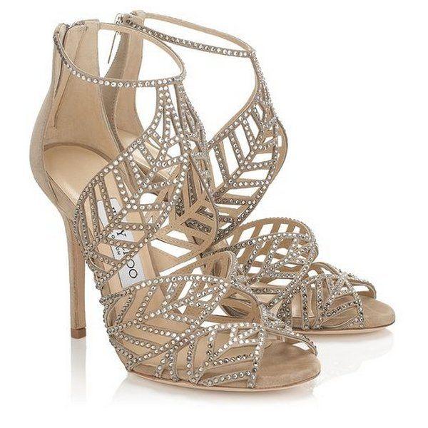 Zapatos de novia. Elegante y original modelo de sandalia de Jimmy Choo. Foto: Jimmy Choo.