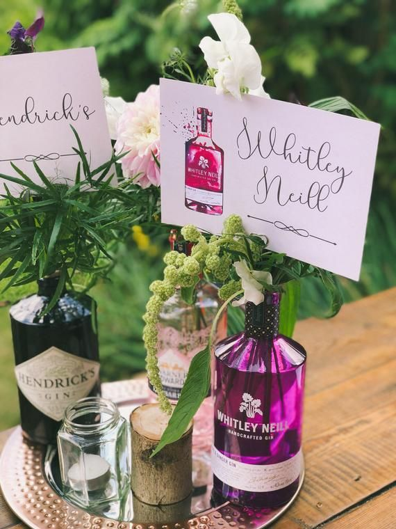Gin Whiskey Themed Table Numbers Wedding Centrepiece Table Etsy Wedding Centerpieces Diy Wedding Bottles Wedding Table Centerpieces