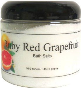 Bath Salts - Ruby Red Grapefruit, 8 Ounces by Eclectic Lady. $6.99. Preservative Free. 8 Ounces. Dye Free. Close your eyes and relax in a warm bath with our bath salts. The bath salts come with a scoop for easy measuring. Ruby Red Grapefruit is a sweet and tart grapefruit fragrance.