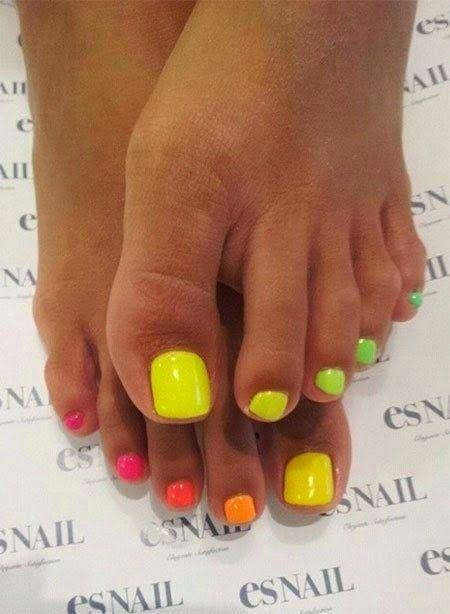 Easy toe Nail Art for summer trends 2015