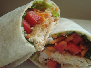 Easy Healthy Chicken Wraps for Lunch, with a special honey mustard sauce