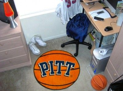 Pittsburgh Pitt Panthers Basketball Shaped Area Rug Welcome/Bath Mat