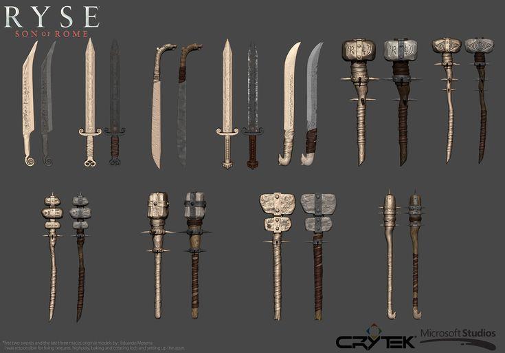 Fabio Paiva Weapon Work for Crytek's Ryse: Son of Rome.