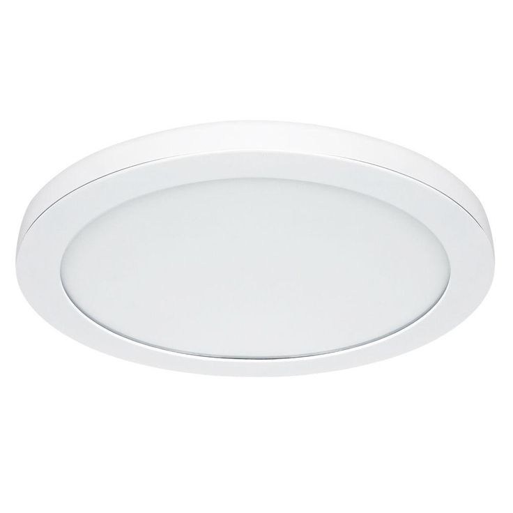 Commercial Electric 15 in. White LED Edge-Lit Flat Round Panel Flushmount