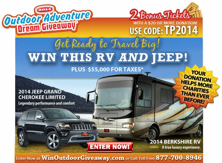 11 best promo codes coupons for 2014 dream giveaway images on help charities and enter to win a 39 berkshire luxury rv motorhome and a fandeluxe Image collections