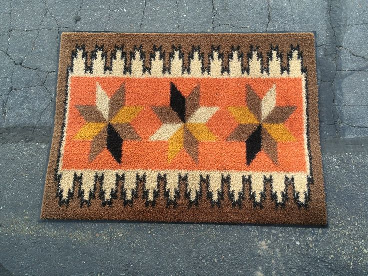 Vintage Modern Doormat - Mid Century Modern Geometric Rug - Retro Indoor / Outdoor Floor Covering Door Mat by HuntGatherVintage on Etsy https://www.etsy.com/listing/251011875/vintage-modern-doormat-mid-century