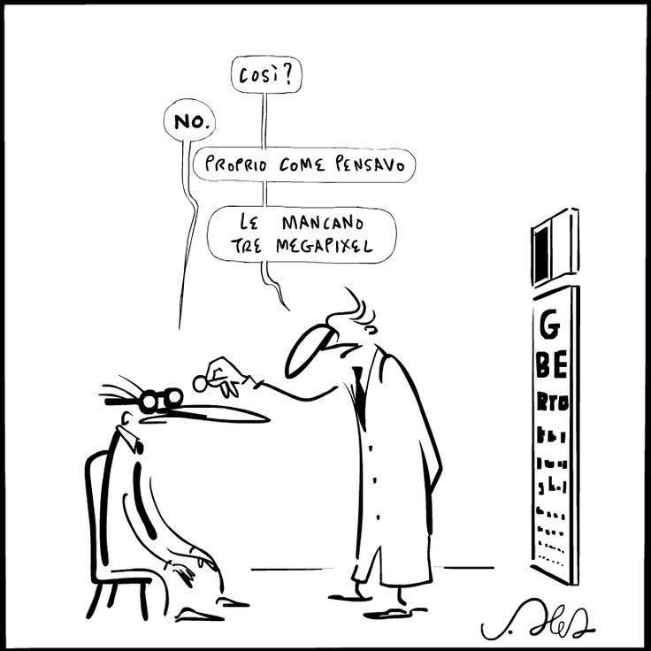 #vignetta Oculista #JoshuaHeld #sketch Eye doctor
