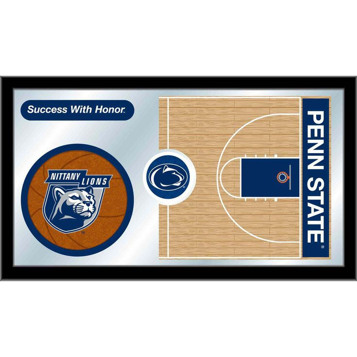Penn State Nittany Lions Basketball Court Mirror Wall Art