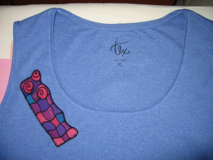 Camiseta con aplicación de Desedamas
