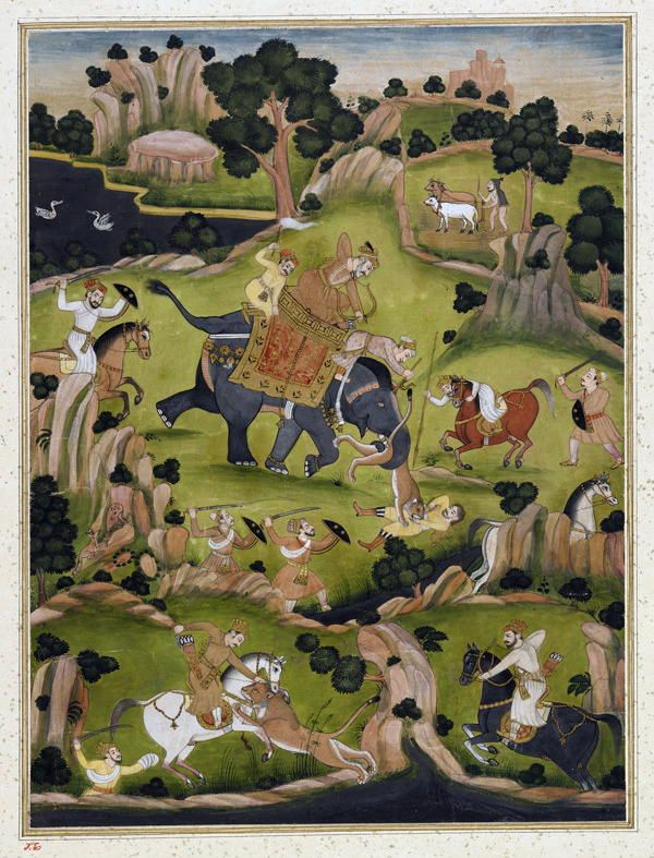 Shah Jahan hunting