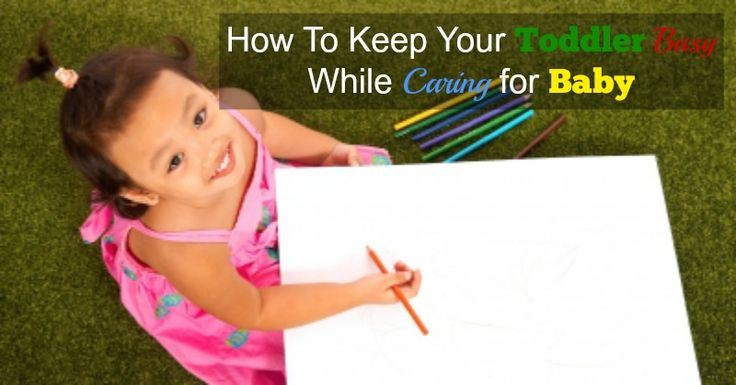 Find out how to keep a toddler busy while putting baby to sleep.