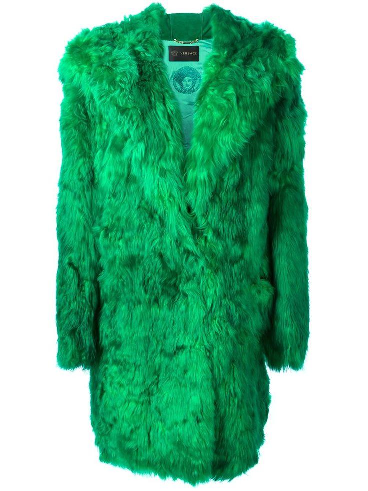Versace Меховое Пальто С Капюшоном - Stefania Mode - Farfetch.com