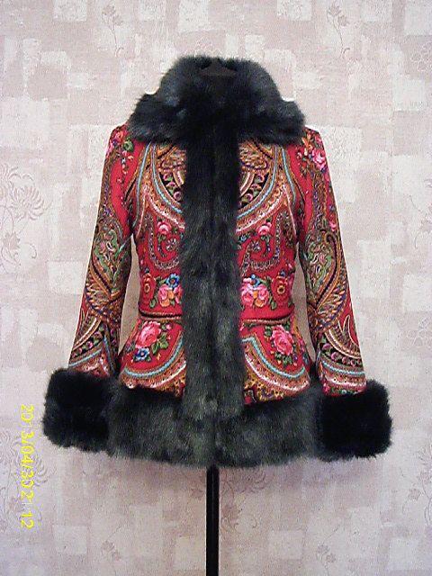 manteau de Paisley, boho chic, manteau femme, manteau chaud