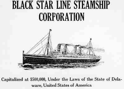 Black Star Line Steamship Corporation flyer The Black Star Line was a shipping line incorporated by Marcus Garvey, organizer of the Universal Negro Improvement Association (UNIA). The shipping line was supposed to facilitate the transportation of goods and eventually African Americans throughout the African global economy. It derived its name from the White Star Line, a line whose success Garvey felt he could duplicate, which would become a standard of his Back-to-Africa movement.