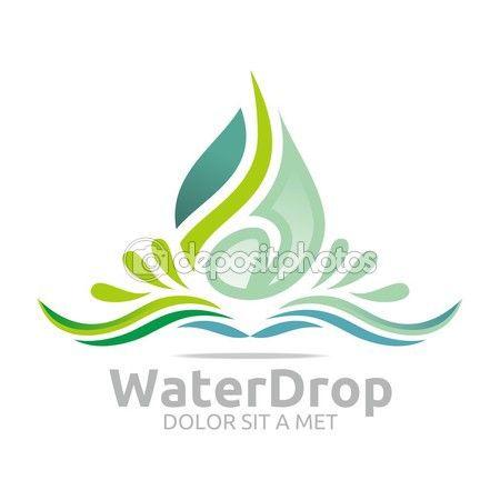 Vector de la Diseño logo agua gota puro símbolo icono empresarial — Vector de stock © AcongStudio #79545632