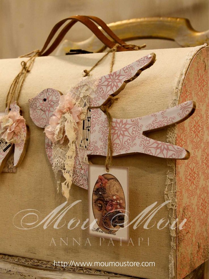 "Christening boxes for baby girl  ""COLLECTION MOUMOU by Anna Patapi"""