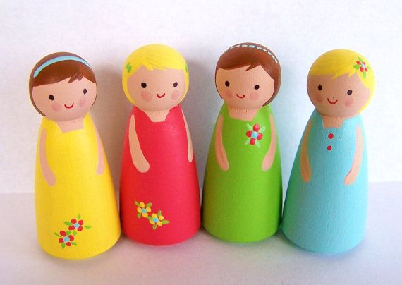 Little Girl Dolls by AbbyandCoco on Etsy, $24.00