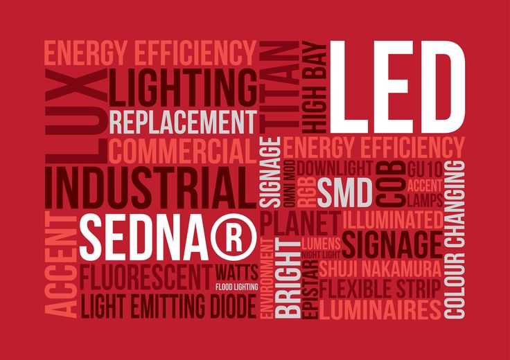 What words spring to mind when you think 'LED'? #infographic #wordboard #lighting #led #technology   http://www.sedna.lighting/led-word-board/