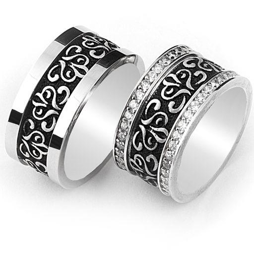 Gümüş Söz Yüzükleri - 925 ayar çift gümüş söz yüzük modeli. / http://www.yuzuksitesi.com/gumus-soz-yuzukleri-10033