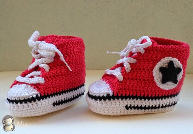 Converse to Crochet for Baby, Tutorial