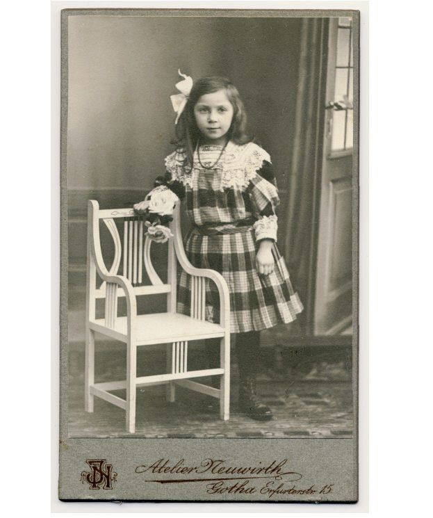 Pretty Little Girl Plaid Dress CDV Photo c1905 Child Fashion | eBay