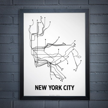 NYC Lithograph White /  Lineposters #poster #nycSweets Home, Design Inspiration, Guest Bathroom, Subway Art, New York Cities, Maps, Black And White, Art Prints, Posters