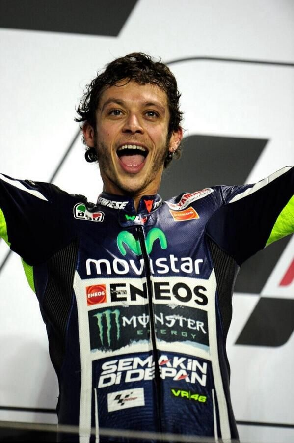 Rossi Podium Qatar MotoGP 2014