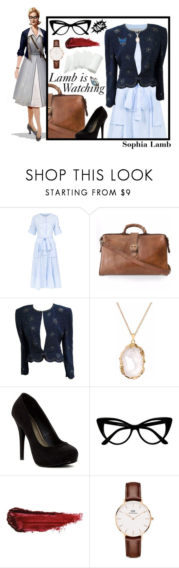 """Dr. Sophia Lamb (BioShock 2)"" by katnovella ❤ liked on Polyvore featuring Sissa, Michael Antonio, By Terry and Daniel Wellington"