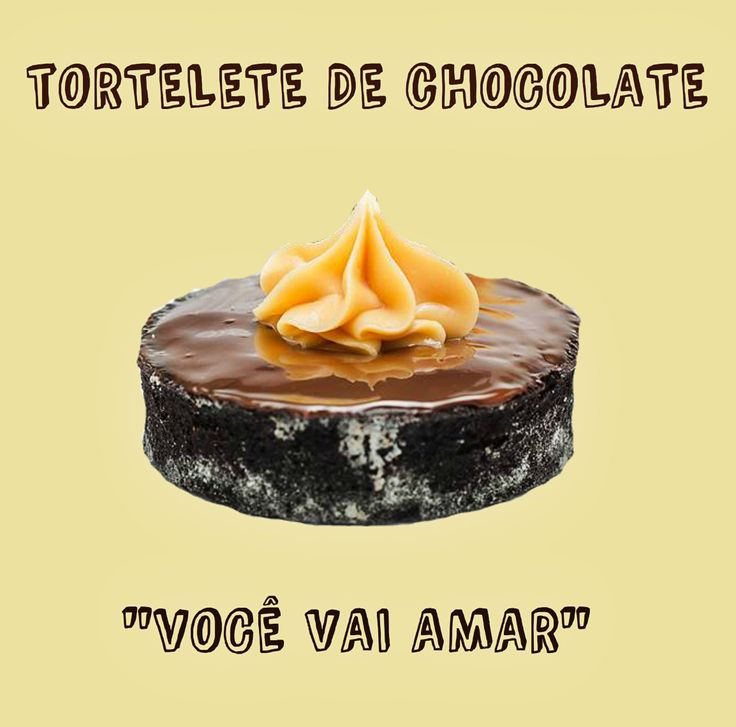 ESPECIALIDADE LIBE CONFEITARIA: TORTELETE DE CHOCOLATE  Recheado com brigadeiro; base amanteigada de chcolate; coberto com ganache
