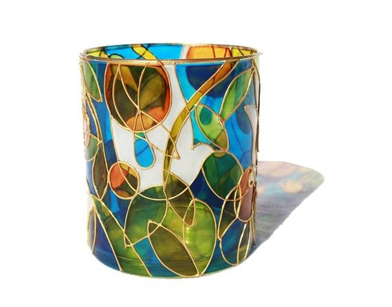 Shop  SylwiaGlassArt  Hand Painted Glass Vases