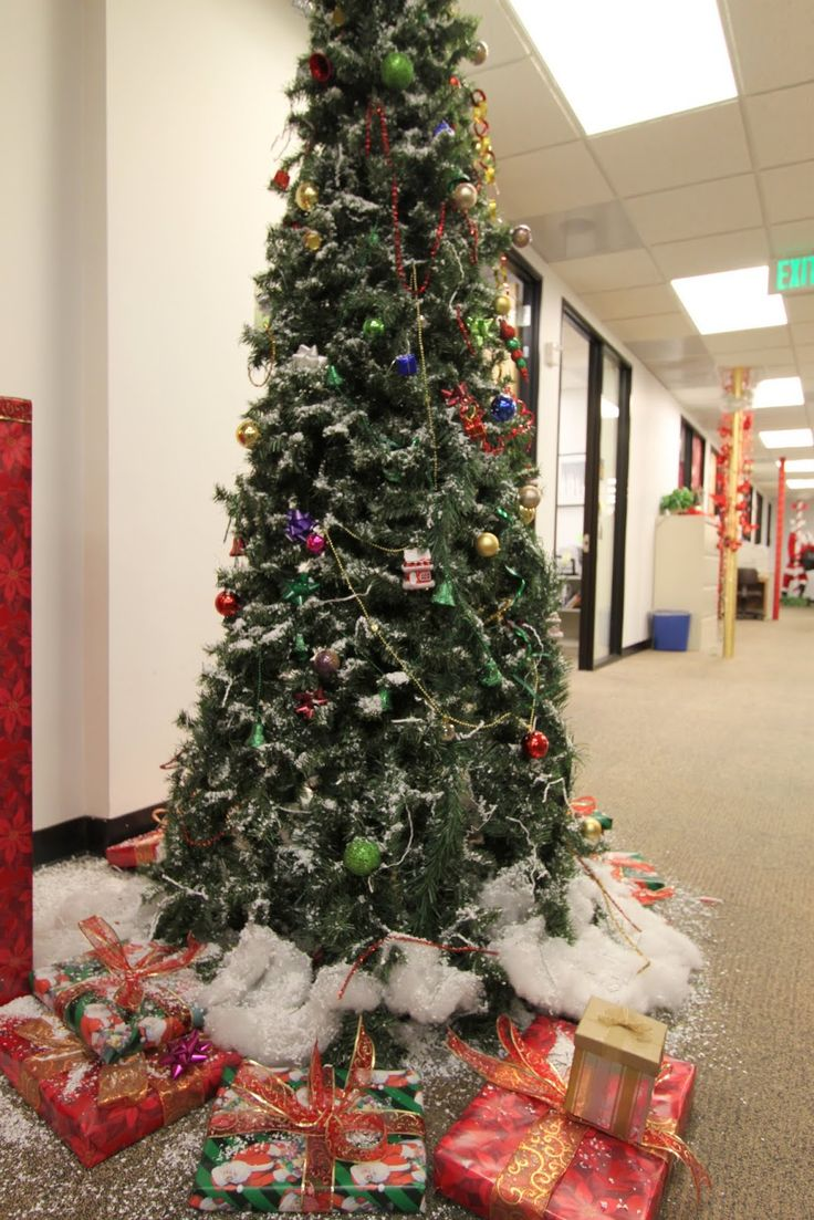 Office cubicle christmas decorating contest ideas - The Office Holiday Pole Decorating Contest Mid Century Modern Remodel