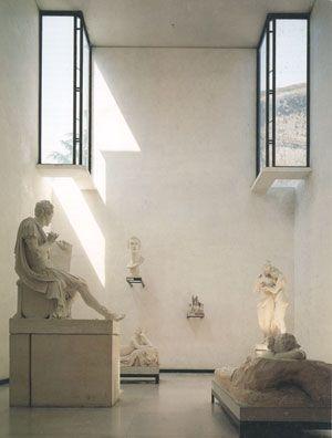 Expansion of the Canova Plaster Cast Gallery. Possagno, Treviso, Italy. 1957. Carlo Scarpa