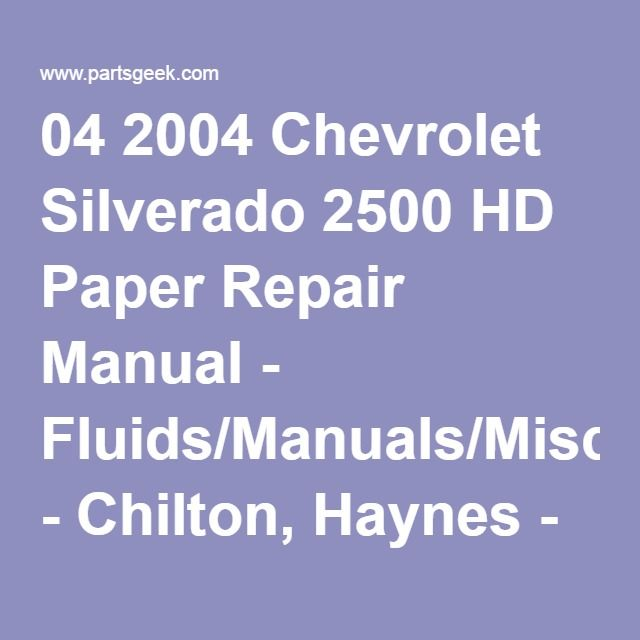 7febd2eb85a2747709a0c50ebb236505 chevrolet silverado repair manuals 64 best chevy avalanche images on pinterest cars, truck Ful System 2002 Chevy Blazer at gsmx.co