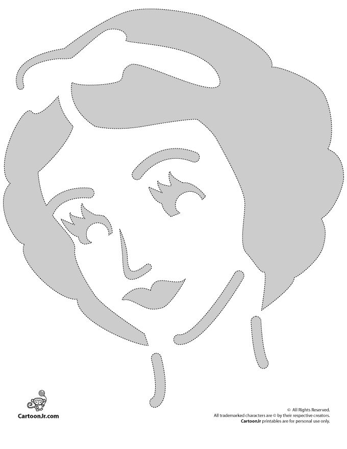 Pumpkin Stencils: Snow White Disney Princess Pumpkin Stencil – Cartoon Jr.