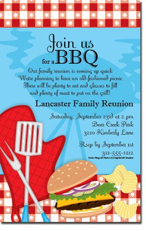 13 best Bbq party images on Pinterest Drink, Cocktails and Dreams - class reunion invitations templates