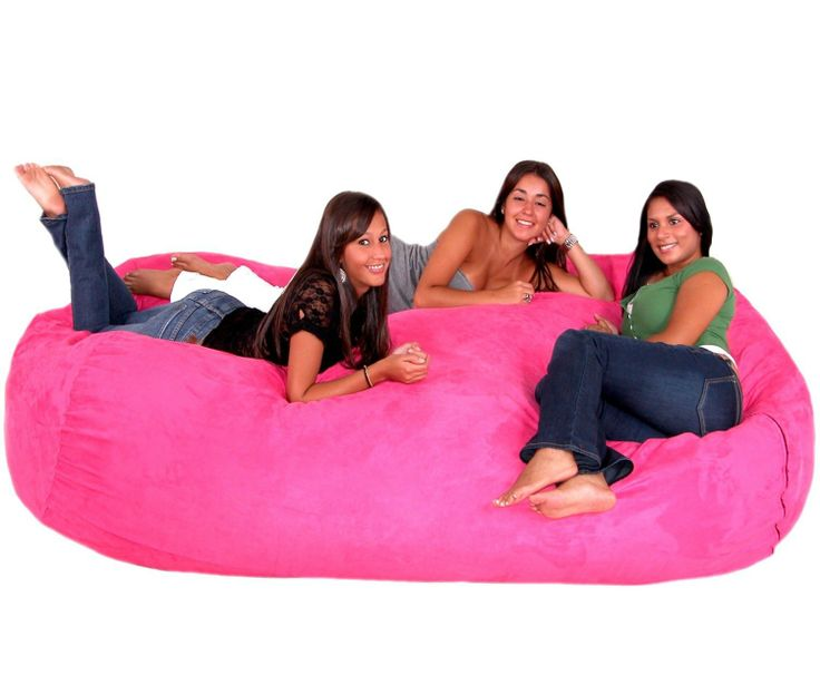 Xx Large Hot Pink Cozy Sac Micro Suede Bean Bag Chair Home Kitchen