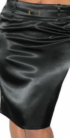 ICE (2328) pencil skirt stretch satin   FREE belt black size 8-16 (18, black) You are looking at a black satin stretch skirt, that is in sizes 8-18. The fabric has a soft feel, and stretches. It is a pencil style with a slit at the back. There are (Barcode EAN = 5055553710505) http://www.comparestoreprices.co.uk/skirts/ice-2328-pencil-skirt-stretch-satin- -free-belt-black-size-8-16-18-black-.asp